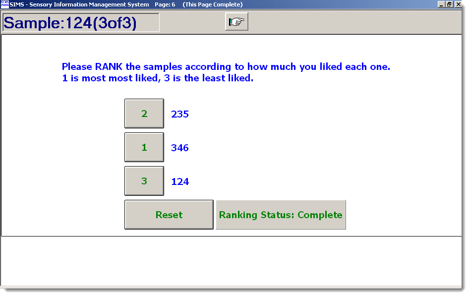 Ranking Sample Preference