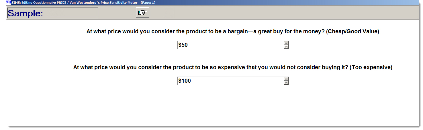 Buy questionnaire example